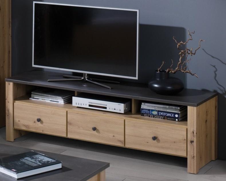 TV stolek Bacardi R5 dub artisan/raw steel