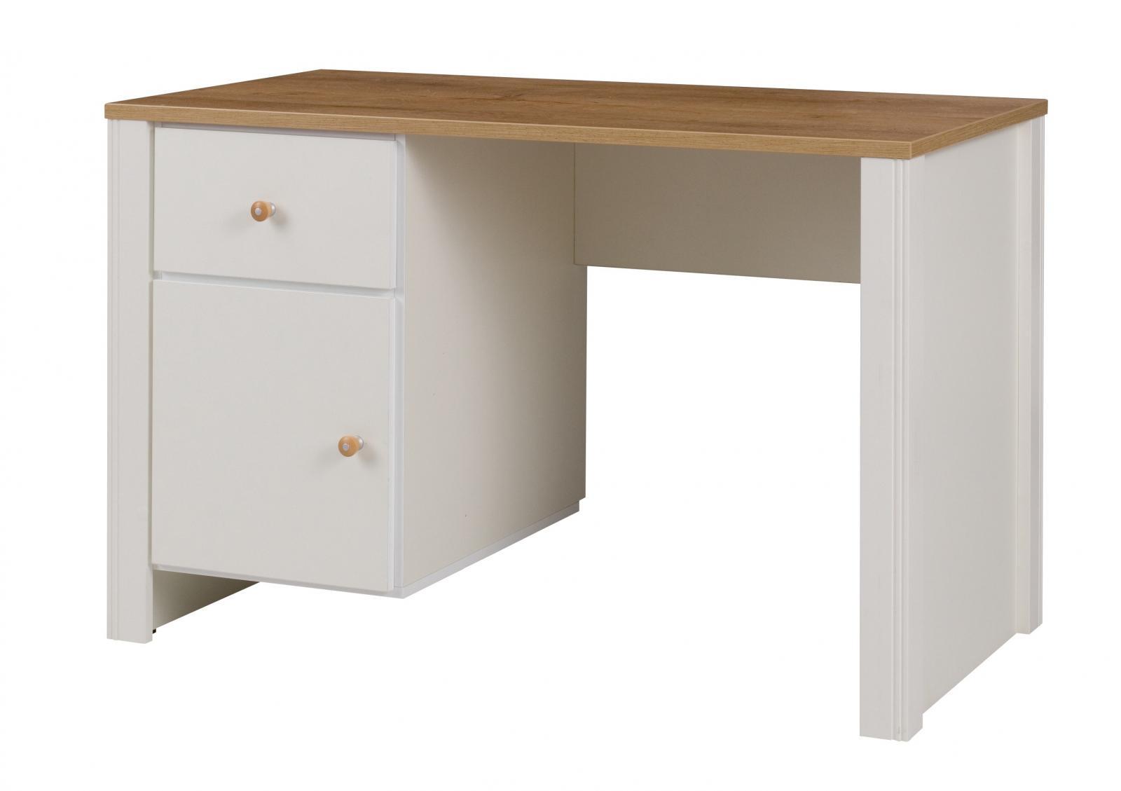 Psací stůl Bacardi R6 dub artisan/raw steel