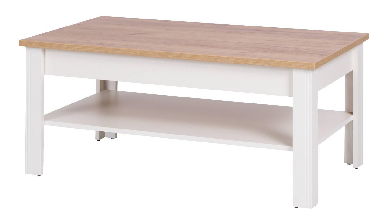 Konferenční stolek Bacardi R16 dub zlatý/crem