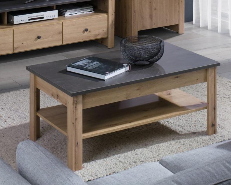 Konferenční stolek Bacardi R16 dub artisan/raw steel