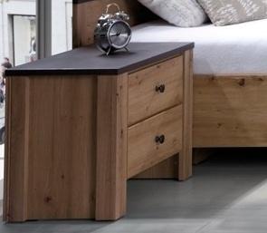 Noční stolek Bacardi R17 dub artisan/raw steel