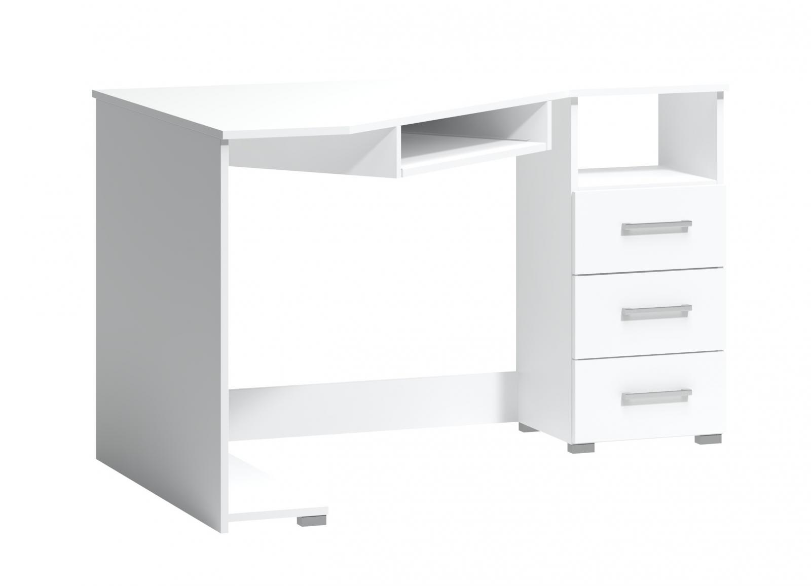 Rohový psací stůl Fatra 18 pravý bílý