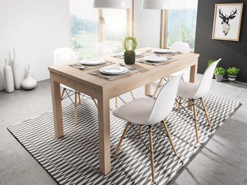 Rozkládací jídelní stůl Aspen 160x80 dub sonoma