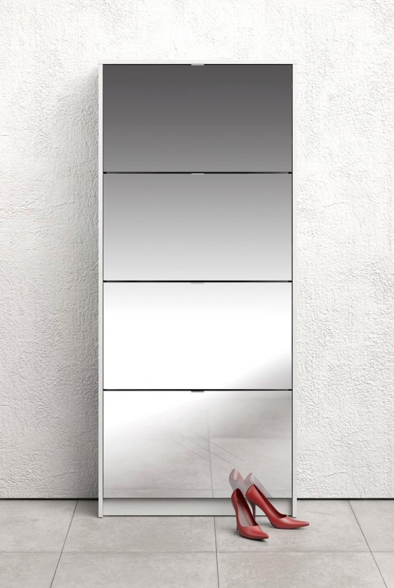 Botník Flap 010 4KL bílá/zrcadlo