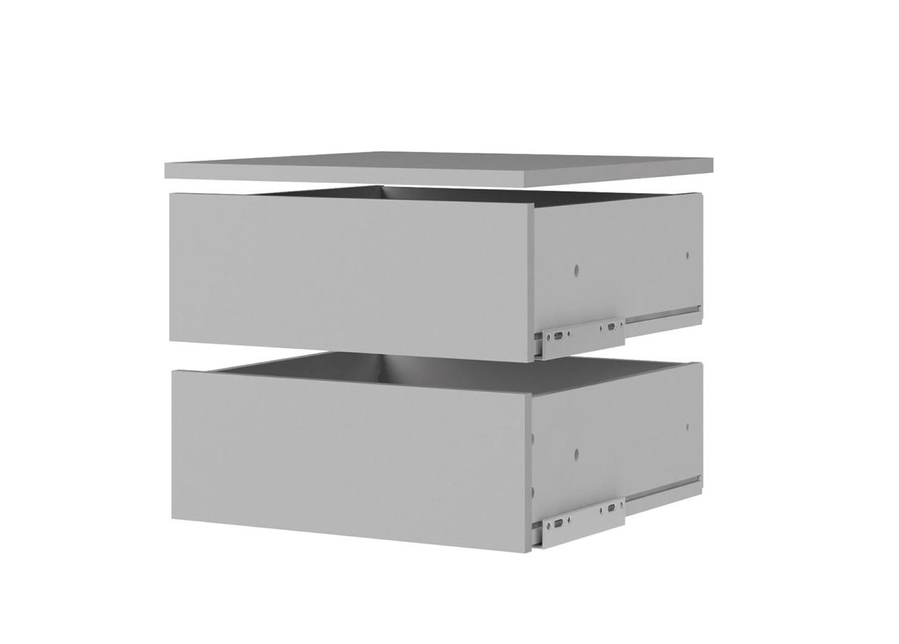 Malé zásuvky s policí Lutta 157 silver grey