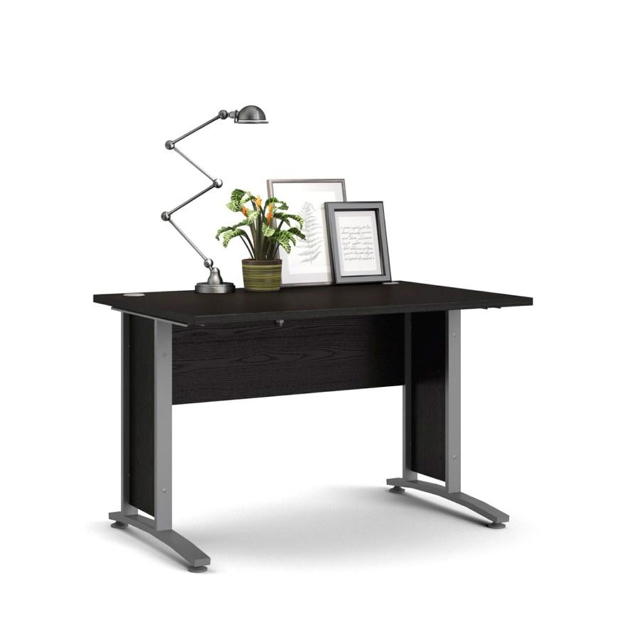 Psací stůl Office 403/437 černá/silver grey