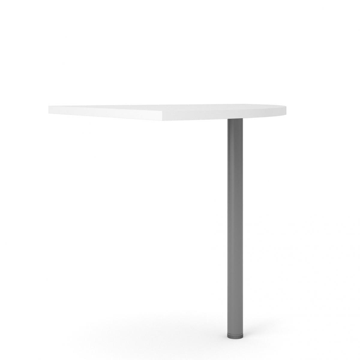 Rohový díl ke stolu Office 458 bílá/silver grey
