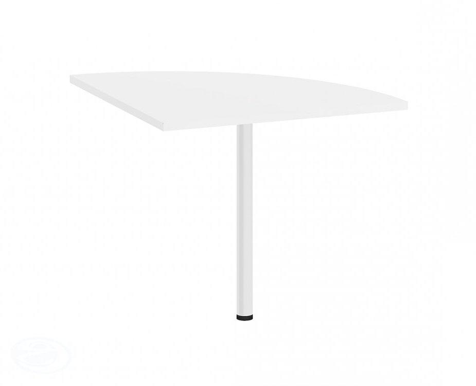 Rohový díl ke stolu Office 458 bílá/bílá