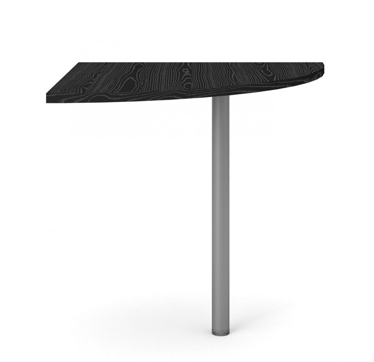 Rohový díl ke stolu Office 458 černá/silver grey
