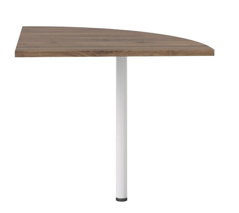 Rohový díl ke stolu Office 458 ořech/bílá