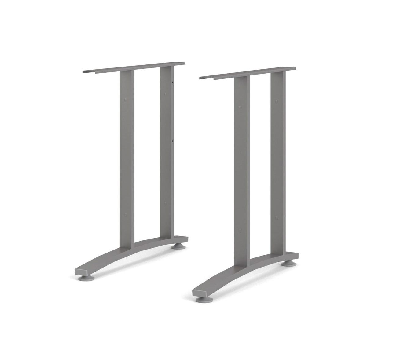 Ukončovací nohy stolu Office 437 silver grey