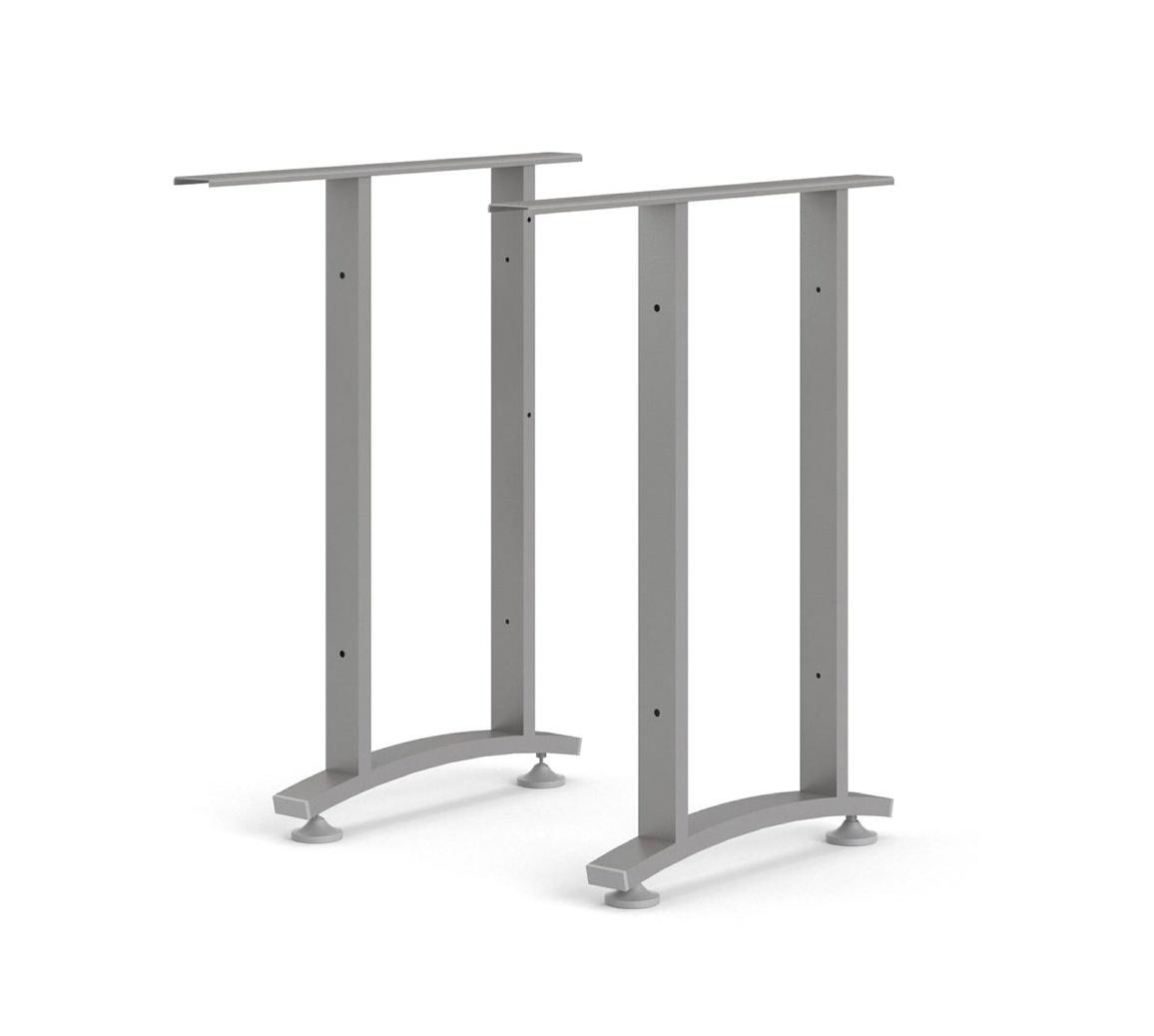 Rohové nohy stolu Office 438 silver grey