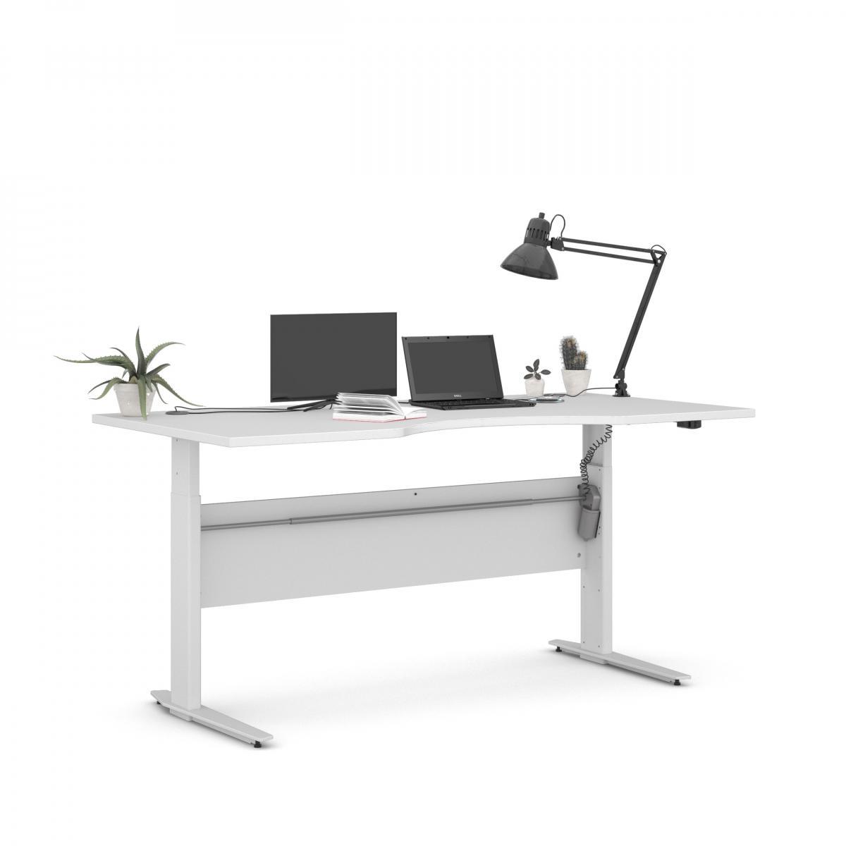 Výškově nastavitený psací stůl Office 474/448 bílá/bílá