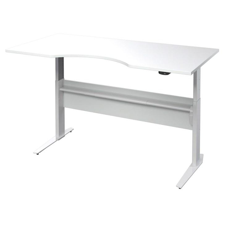 Výškově nastavitený psací stůl Office 474/448 ořech/bílá