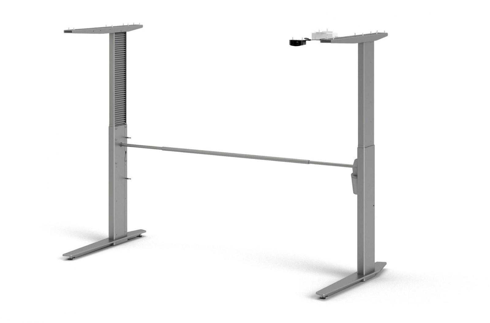 Výškově nastavitelné nohy stolu Office 448 silver grey