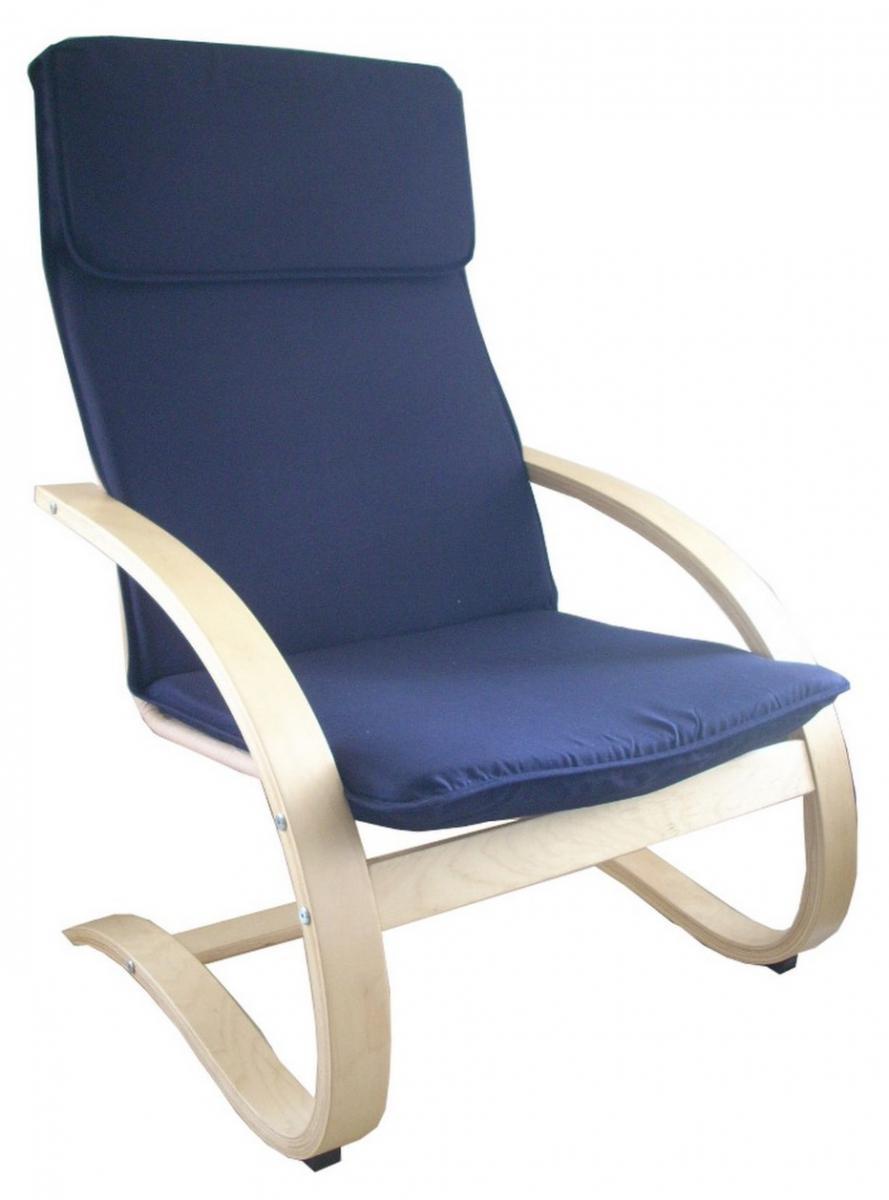 Relaxační křeslo modré