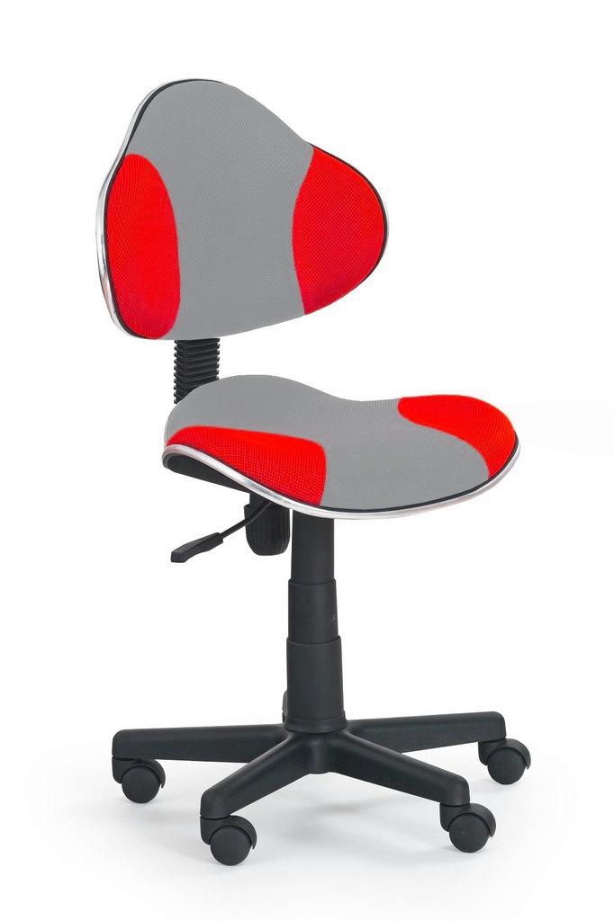 židle QZY-G2 šedo-červená