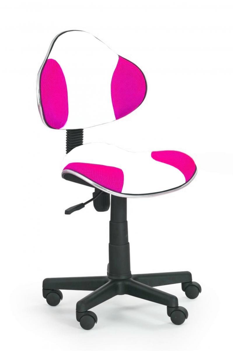 židle QZY-G2 bílo-růžová